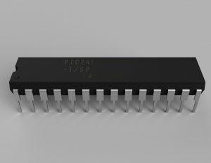 PIC24FJ64GB002 3Dモデル