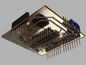 自作Arduinoシールド パターン面から(3DCADモデル)