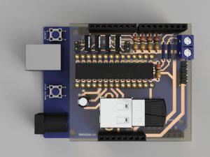 クアッドコプター自作制御基板②(3DCADモデル)