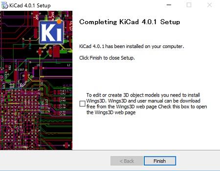 KiCadインストール画面